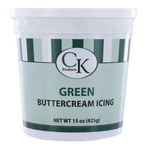 Green Buttercream Icing- 15 oz Container