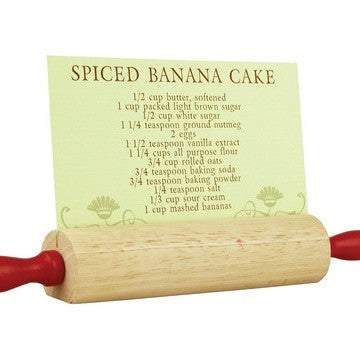 Rolling Pin Recipe Card Holder