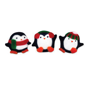 Playful Sugar Penguin Decorations