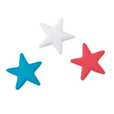 Red White & Blue Sugar Stars