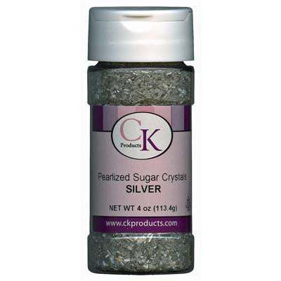 Silver Pearlized Sugar Crystals