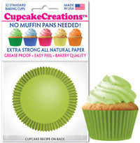 Lime Green Cupcake Liners