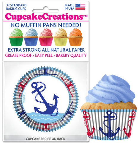Anchor Cupcake Liners