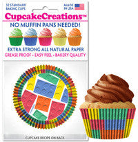 Building Blocks Cupcake Liners