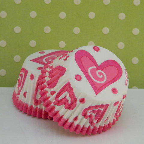 Pink Hearts Cupcake Liners