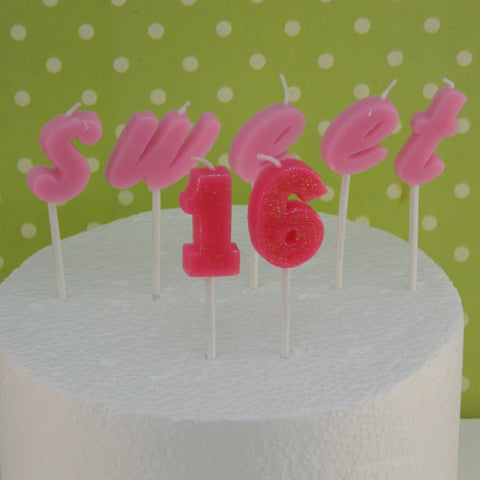 Sweet 16 Birthday Candles