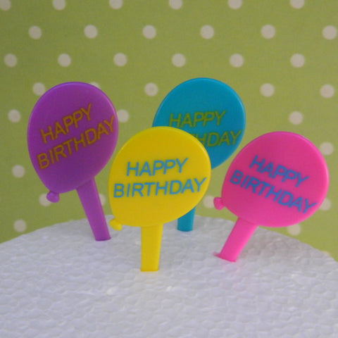Happy Birthday Balloon Picks