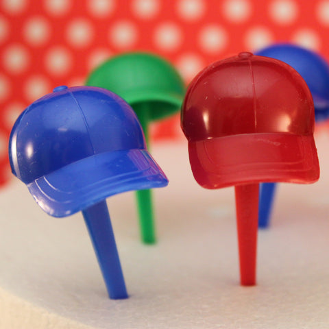 Ball Cap Cupcake Picks