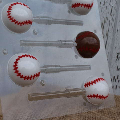 Baseball Lollipop Candy Mold