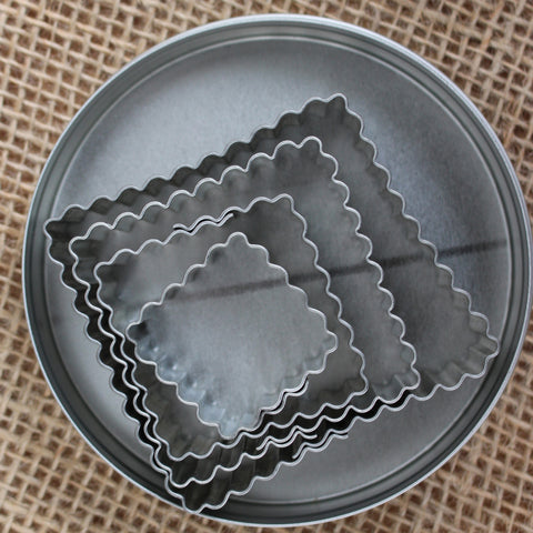 Fluted Square Cookie Cutter Set