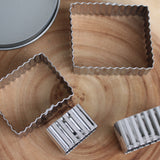 Fluted Rectangle Cookie Cutter Set
