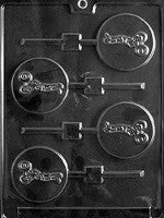 Weight Lifter Lollipop Candy Mold
