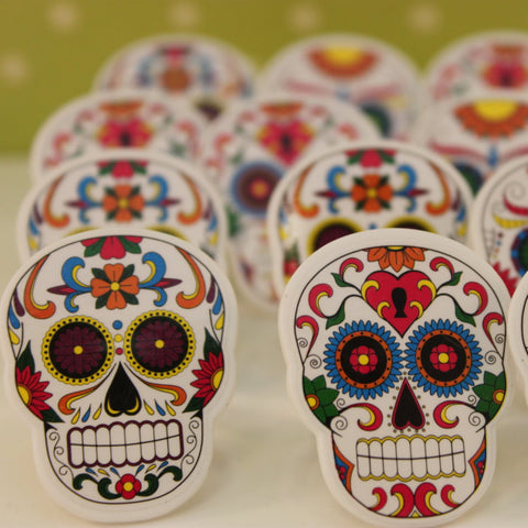 Mexican Skull Cupcake Rings