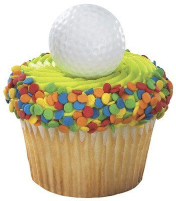 Golf Ball Cupcake Rings