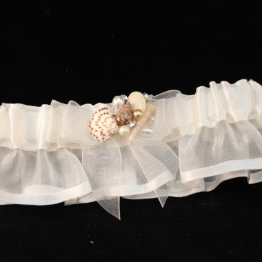 Seashell Garter/ Beach Theme Wedding/ Bride/ Destination Wedding