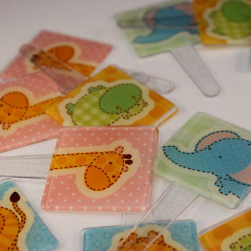 Baby Shower Safari Animals Cupcake Picks