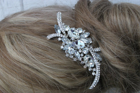 Beautiful Rhinestone and Crystal Hair Comb