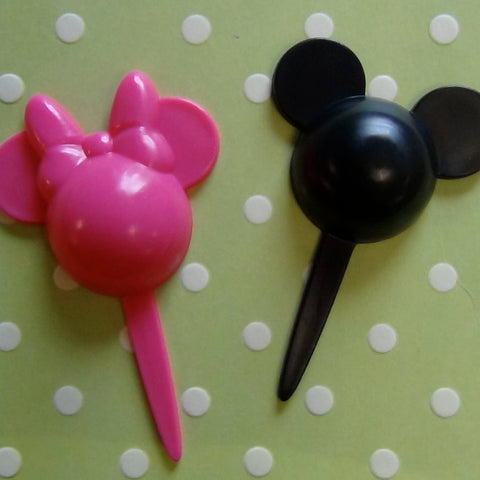Mickey & Minnie Silhouette Picks