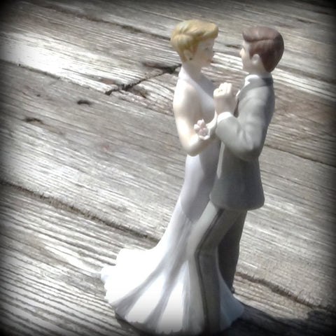 Vintage Anniversary Cake Topper
