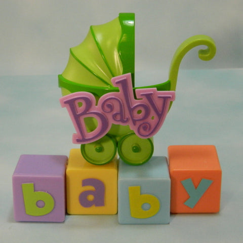 Baby Shower Stroller Cake Topper