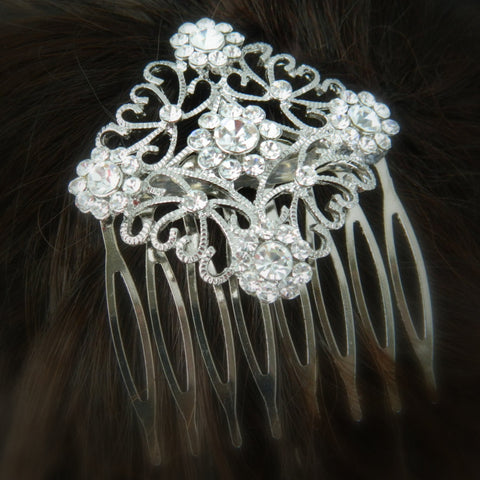 Diamond Shaped Bridal Comb