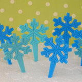Snowflake Cupcake Picks