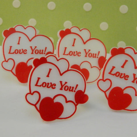 """I Love You"" Heart Rings"