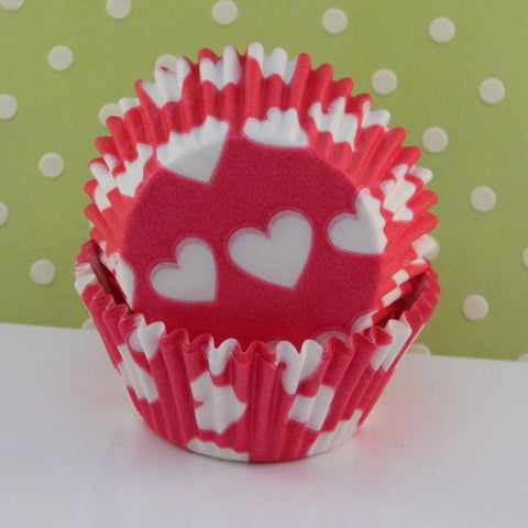 Pink Heart Cupcake Liners