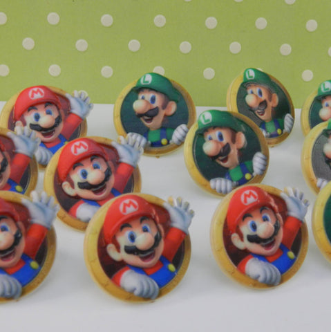 Super Mario Brothers Cupcake Rings