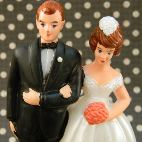 Vintage Bride and Groom Topper