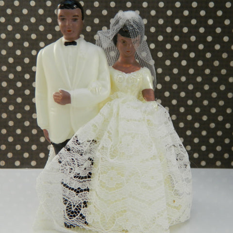 Vintage African American Bride and Groom Topper