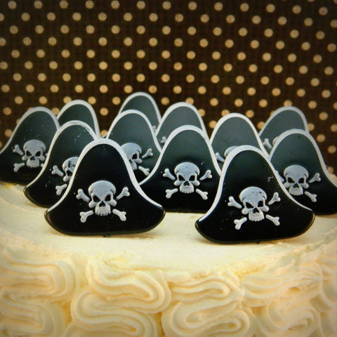 Pirate Hat Cupcake Topper Rings