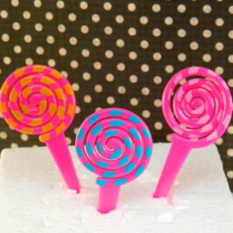 Lollipop Swirl Cupcake Picks