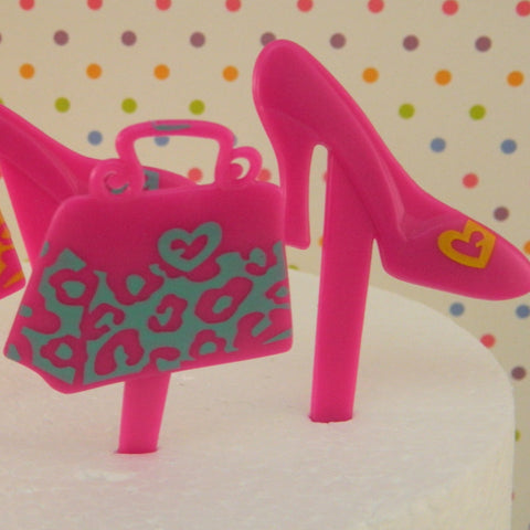 Fashion High Heel Shoe & Purse Cupcake Picks