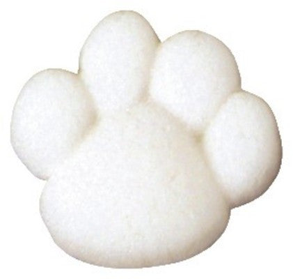 White Paw Print Sugar Pieces