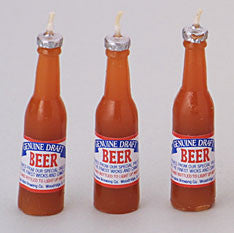 Beer Bottle Candles