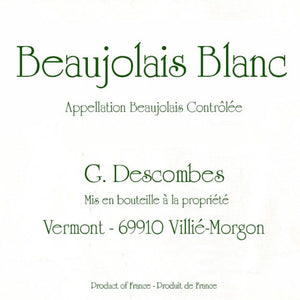 Georges Descombes - Beaujolais - Blanc - 2018