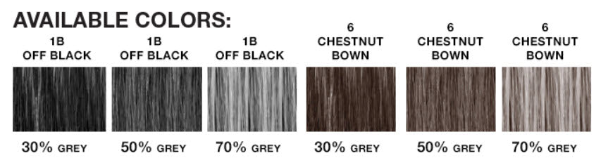 House of European Hair Miranda Color Chart