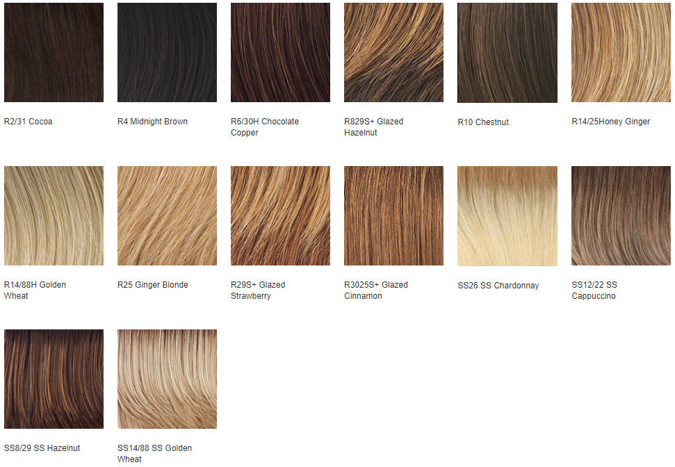 Raquel Couture Remy Human Hair Wig Colors
