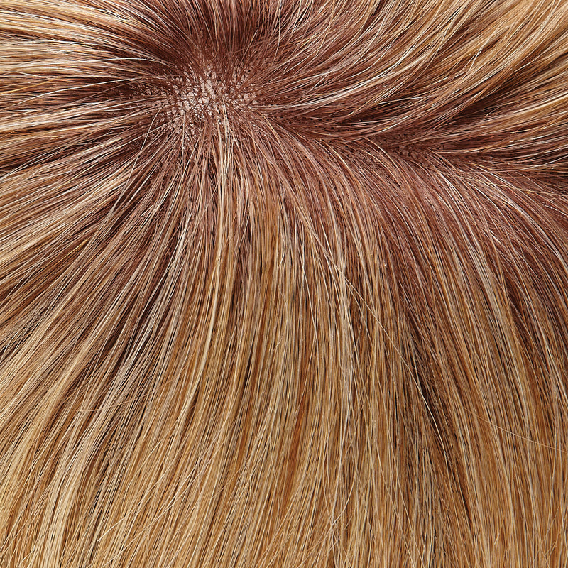 "Top Form French 18"" Exclusive Colors Human Hair Topper by Jon Renau 
