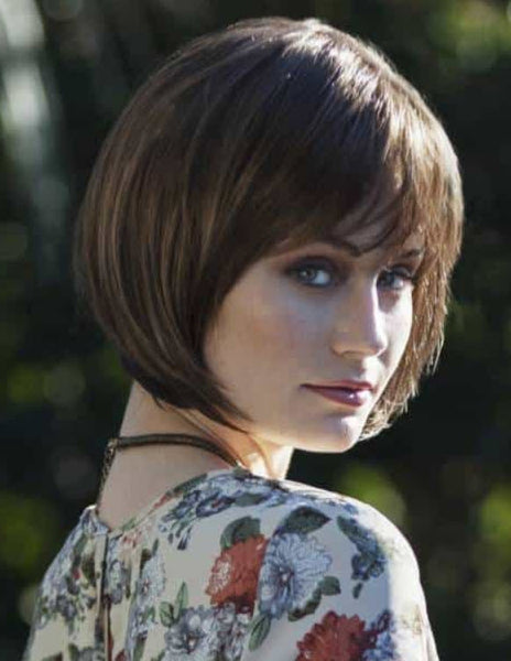 Bravadas Lucy Wig - Sythentic Lace Front Bob Wig w/ Silk Lined Mono Top