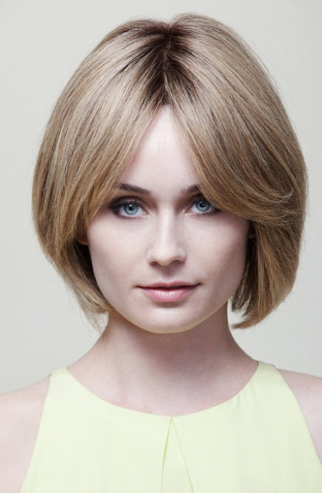 Dimples Ashley Wig (Small) - Remy Human Hair Short Bob Style Lace Front Wig