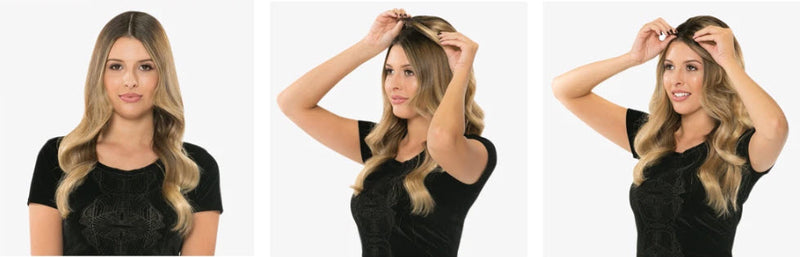 The Fall Hair Topper By Halo Couture - 100% Remy Human Top Piece for Women