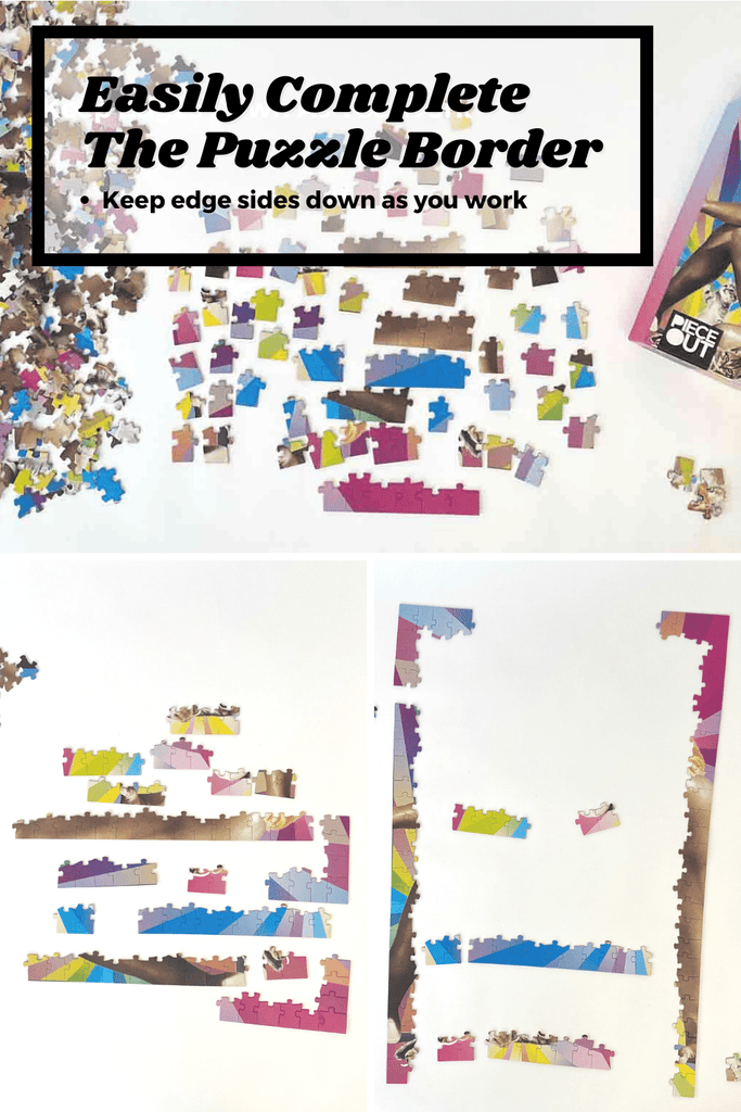 How to solve a jigsaw puzzle border
