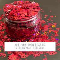 HOT PINK OPEN HEARTS
