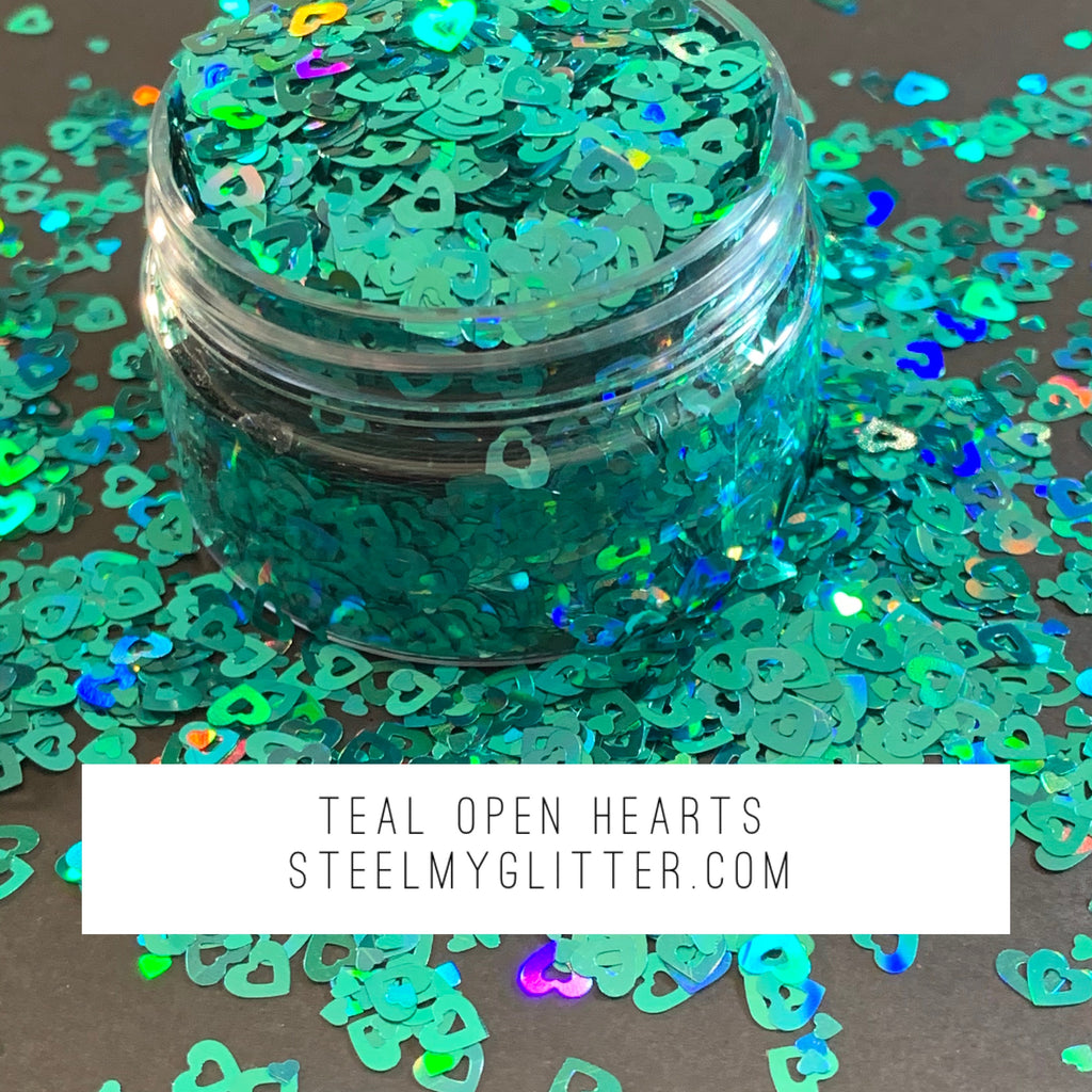 TEAL OPEN HEARTS