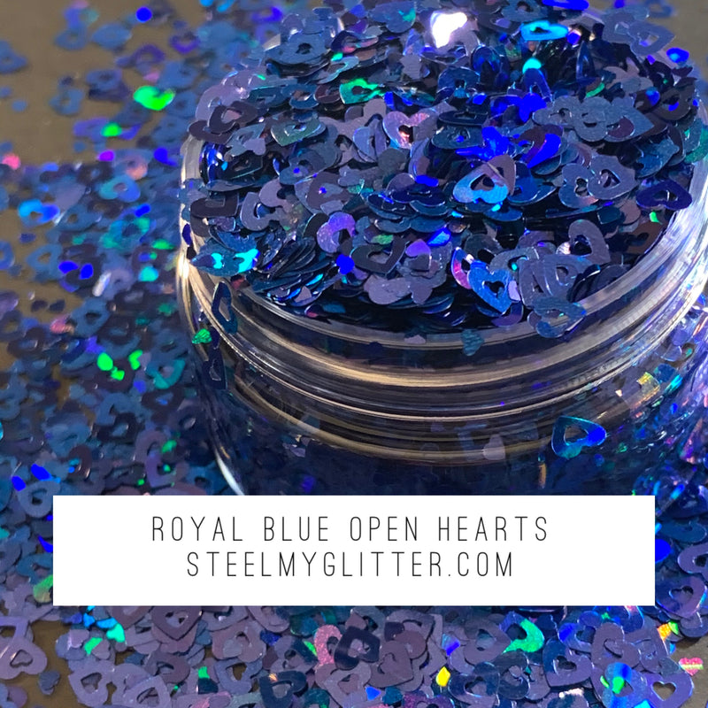 ROYAL BLUE OPEN HEARTS