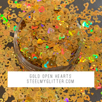 GOLD OPEN HEARTS