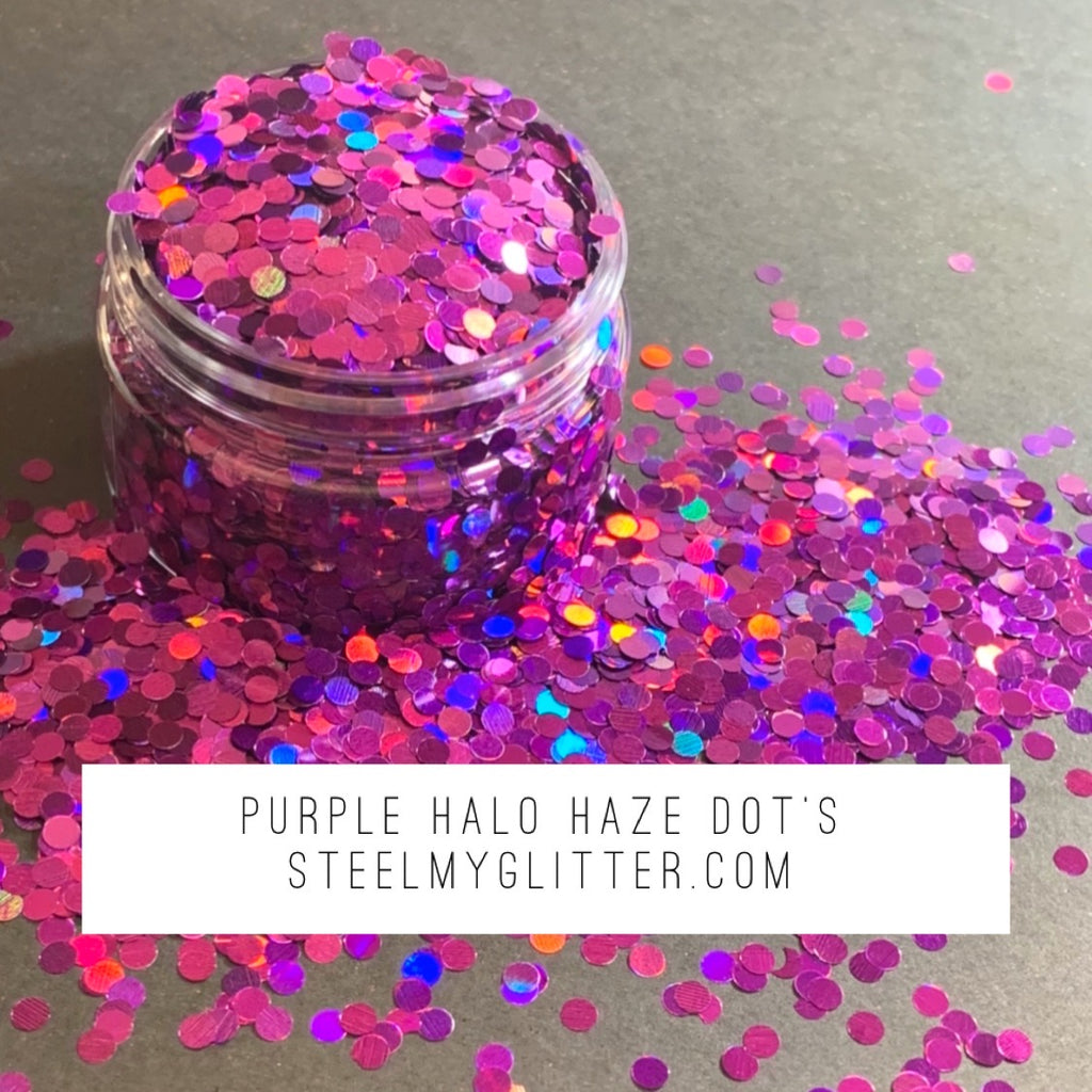 PURPLE HALO HAZE DOTS