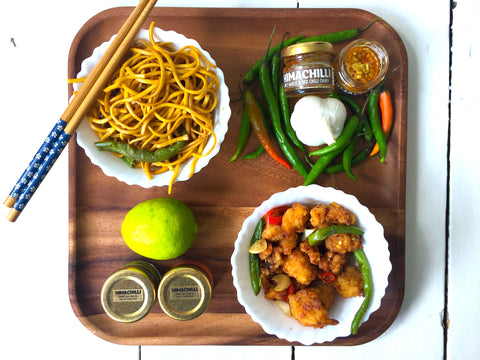Himachilli Chukh Chinese Noodle, Spicy Noodle recipe, Dry Chilli Chicken